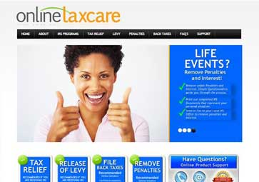Online Tax Care Web Design by Damon Merten and Digital Marketing by Stacey Spiegel from Daedalus Creative Design + Marketing in Los Angeles