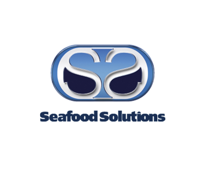 a logo design example designed for seafood solutions by damon merten from daedalus creative design in loas angeles