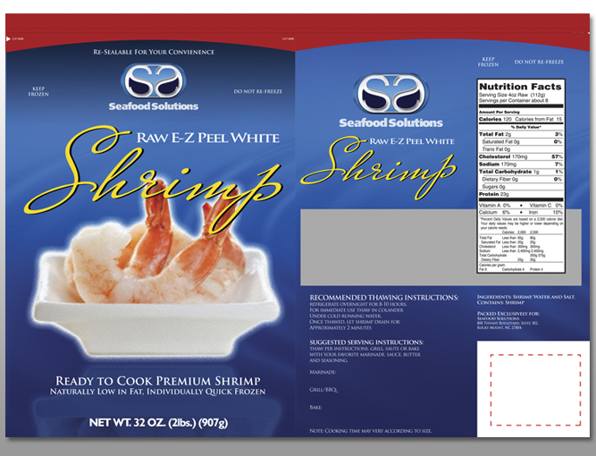 a package design example designed for seafood solutions by damon merten from daedalus creative design in loas angeles